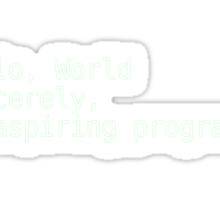 Hello, World Sticker