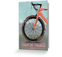 Tour De France Bike Greeting Card