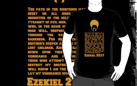 Ezekiel 25 : 17 (white) by karlangas