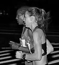 Valentina Galimova Of Russia The 2012 Women's Honolulu Marathon Winner and Woynishet Girma of Ethiopia .2 by Alex Preiss