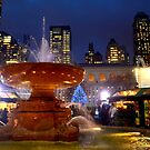 Fountain at Bryant Park by anchorsofhope