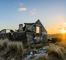 Ruins at the end of the day by Ólafur Már Sigurðsson