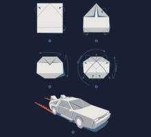 Origami DeLorean Kids Clothes