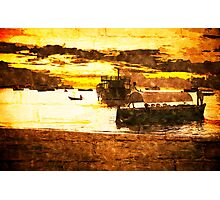 Sunset over Stone Town Port Photographic Print