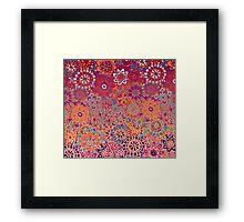Psychedelic Ombre Flower Doodle Framed Print