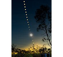 Solar Eclipse Composite 2012 Photographic Print