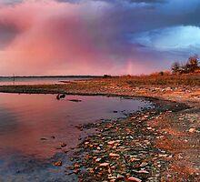 Sundown And A Little Rainbow by Carolyn  Fletcher