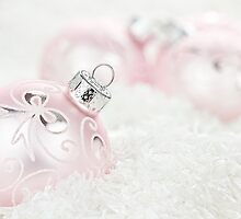 Pink Christmas Baubles by Stephanie Frey