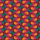 Green Purple Orange : Funky Pattern iPhone & iPod Case Covers by webgrrl
