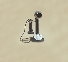 Candlestick Telephone iPad Case by Catherine Hamilton-Veal  ©