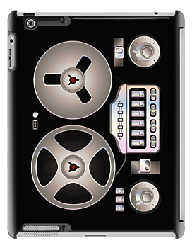 Tape Recorder Retro Magnetophon iPhone 4 / 5 Case / iPad Case / Tee Shirt / Samsung Galaxy Cases  / Pillow / Tote Bag by CroDesign