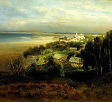 Alexey Savrasov The Monastery of the Caves near Nizhny Novgorod (1871) by Adam Asar