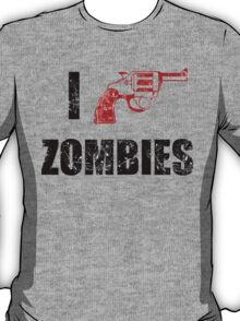 I Shotgun Zombies/ I Heart Zombies  T-Shirt