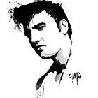 Elvis Presley Portrait by Apple-Hat
