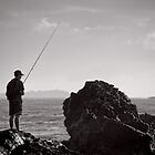 Fishing on the Rocks - Korora - NSW - Australia by Norman Repacholi