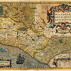 1606 Hondius_and Mercator Map of Mexico Geographicus HispaniaeNovaMexico mercator 1606 by Adam Asar