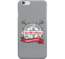 Two Brothers Plumbing iPhone Case/Skin