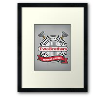 Two Brothers Plumbing Framed Print