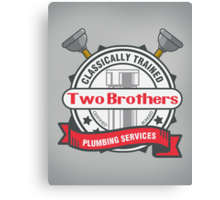 Two Brothers Plumbing Canvas Print