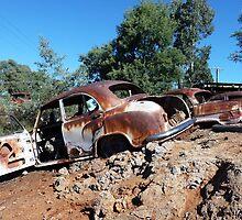 Saw mill car wrecks, Hill End, NSW by DashTravels