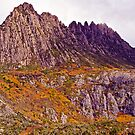The craggy peak of Cradle Mountain. by TonyCrehan