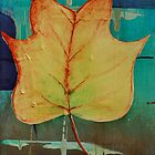 Poplar Leaf Abstract 2 of 2 by GrayA