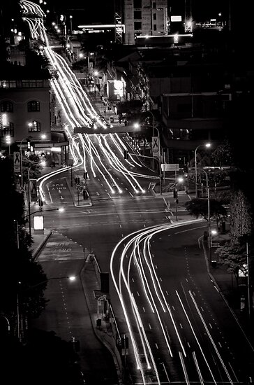 Traces of night - Brisbane - QLD - Australia by Norman Repacholi
