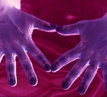 Man's Purple Hands by Tamarra