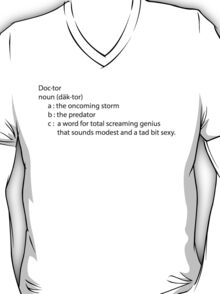 Dr. Who definition T-Shirt