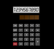 Calculator is now vintage art by nadil