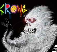 Krong, the Spray-Painting Yeti drawing 1 by Grant Wilson