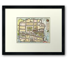 1650 Fuller Map of Jerusalem Israel Palestine  Holy Land Geographicus jerusalem fuller 1650 Framed Print