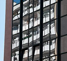 Reflections on Windows Abstract by Artur Bogacki