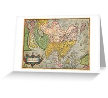 1670 Ortelius Map of Asia (first edition) Geographicus AsiaeNovaDescriptio ortelius 1570 Greeting Card