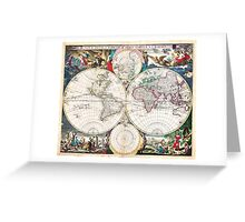 1685 Bormeester Map of the World Geographicus TerrarumOrbis bormeester 1685 Greeting Card