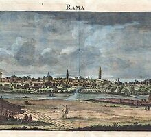 1698 de Bruijin View of Rama Israel (Palestine Holy Land) Geographicus Rama bruijn 1698 by Adam Asar