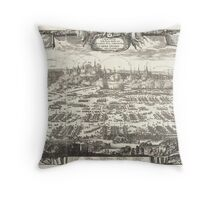 1697 Pufendorf View of Krakow (Cracow) Poland Geographicus Krakow pufendorf 1655 Throw Pillow