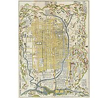 1696 Genroku 9 (early Edo) Japanese Map of Kyoto Japan Geographicus Kyoto genroku9 1696 Photographic Print