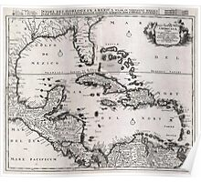 1696 Danckerts Map of Florida the WestIndies and the Caribbean Geographicus WestIndies dankerts 1696 Poster