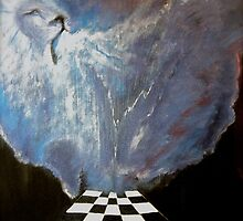 Brenda's prophetic chess board of heaven. by Aaron McKenzie