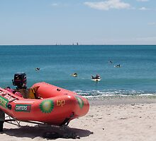 surf lifesaving boat by Anne Scantlebury