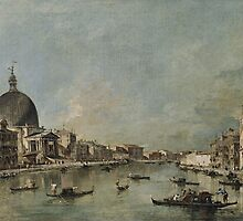 Francesco Guardi The Grand Canal with San Simeone Piccolo and Santa Lucia (c. 1780) by Adam Asar