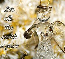 Angel Christmas Card by Belinda Osgood