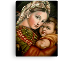 "Raphael's ""Madonna della Seggiola"" Canvas Print"