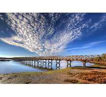 Quinta do Lago The Wooden Bridge Photographic Print