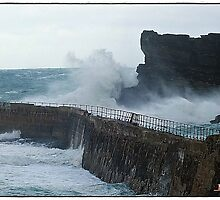 """"""" A cold morning at Portreath"""" by Malcolm Chant"""