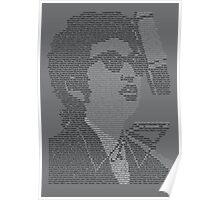 Bob Dylan Lyric Portrait Poster