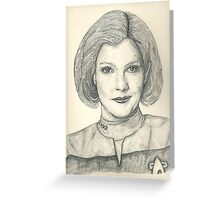 Captain Janeway Greeting Card