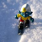 The ski smurf by freshairbaloon