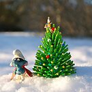 Smurf christmas tree by freshairbaloon